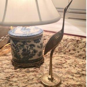 Vintage Brass Heron